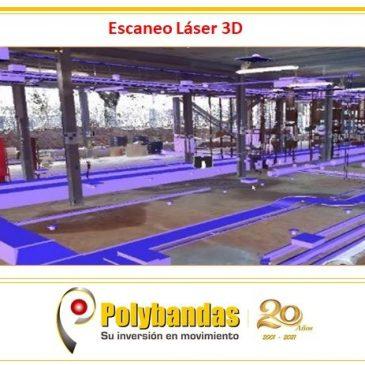 ¿Sabías que con el escaneo 3D se pueden verificar los espacios disponibles para la instalación de equipos transportadores nuevos?.