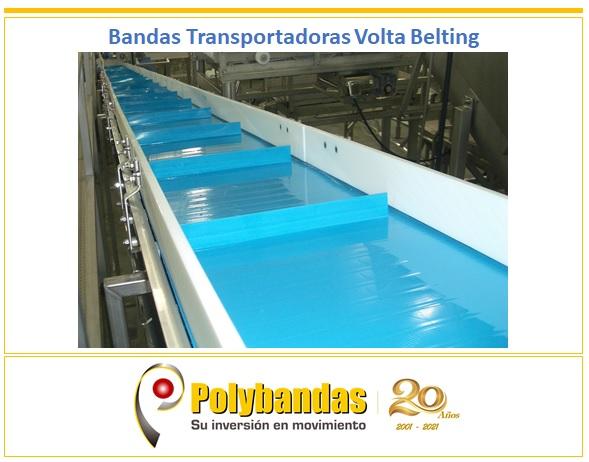 ¿Sabías qué el material homogéneo de las bandas Volta Belting NO requiere de cordones longitudinales de aramida para manejar la carga de trabajo?.