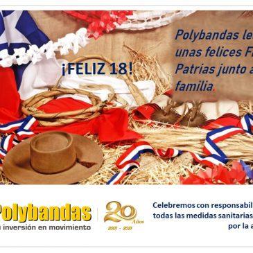 Polybandas les desea unas felices Fiestas Patrias