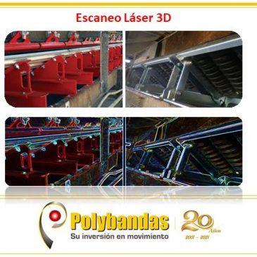 ¿Sabías que con un servicio de escaneo láser 3D se puede monitorear la condición deaccesorios y componentes de equipos transportadores. (Polines, Poleas, entre otros)?.